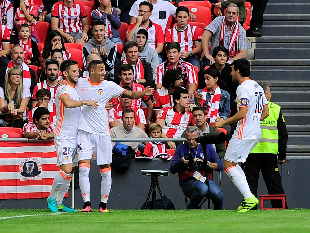 Siegestreffer für Valencia durch Dani Parejo (rechts im Bild)