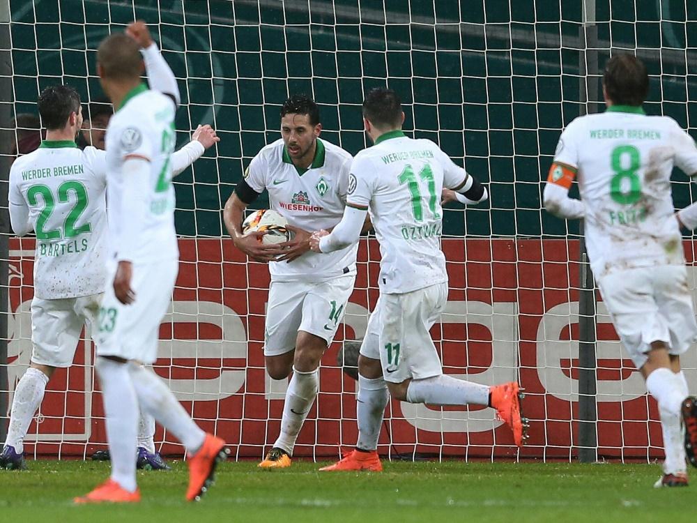 Bremen düpiert Leverkusen und zieht ins Halbfinale ein