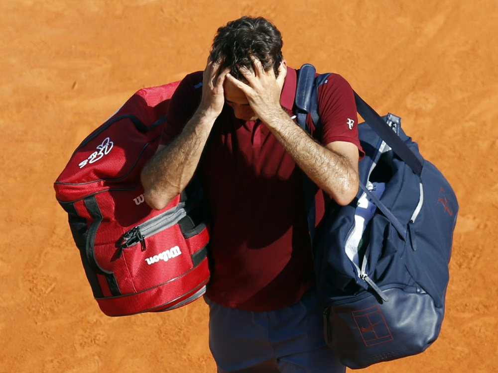 ATP-Madrid: Roger Federer plagen erneut Rückenprobleme