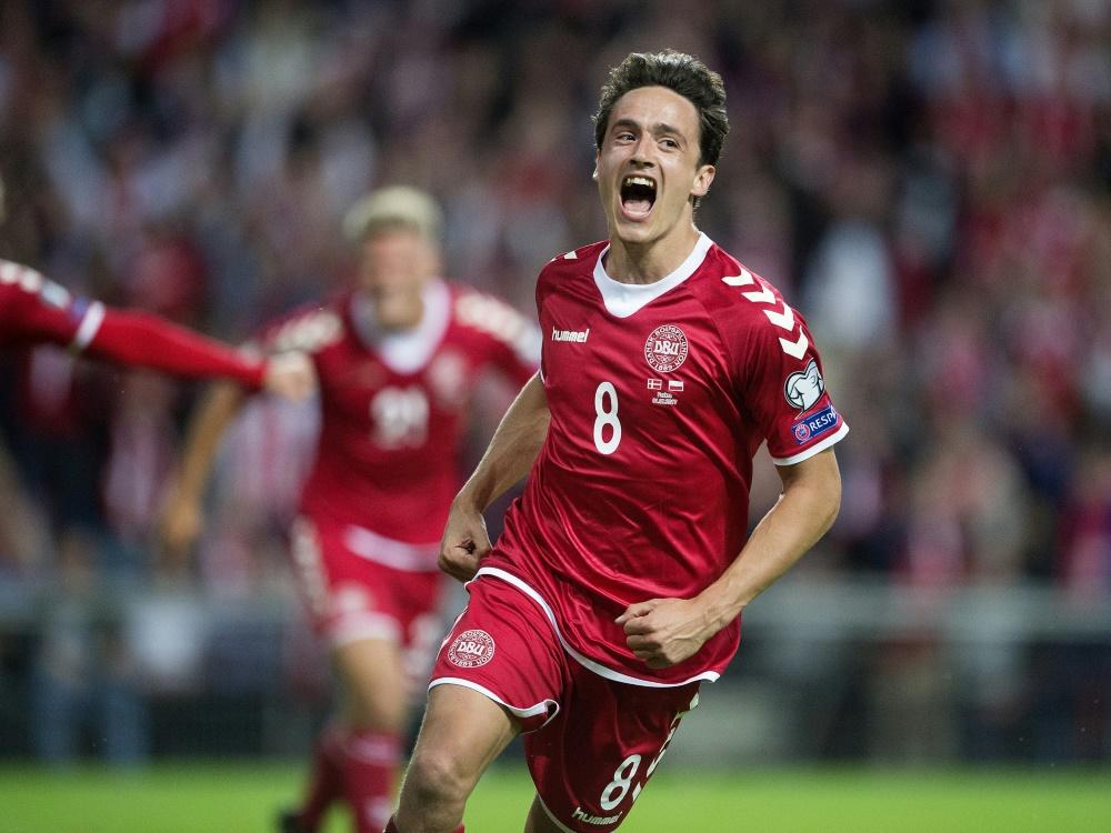 Bremens Thomas Delaney traf zum 1:0 für Dänemark