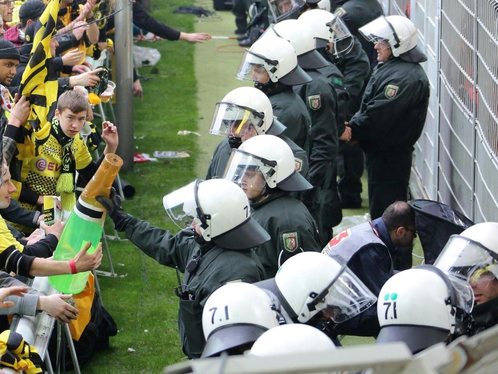 Die Polizei stockt für das Dortmunder Heimspiel auf