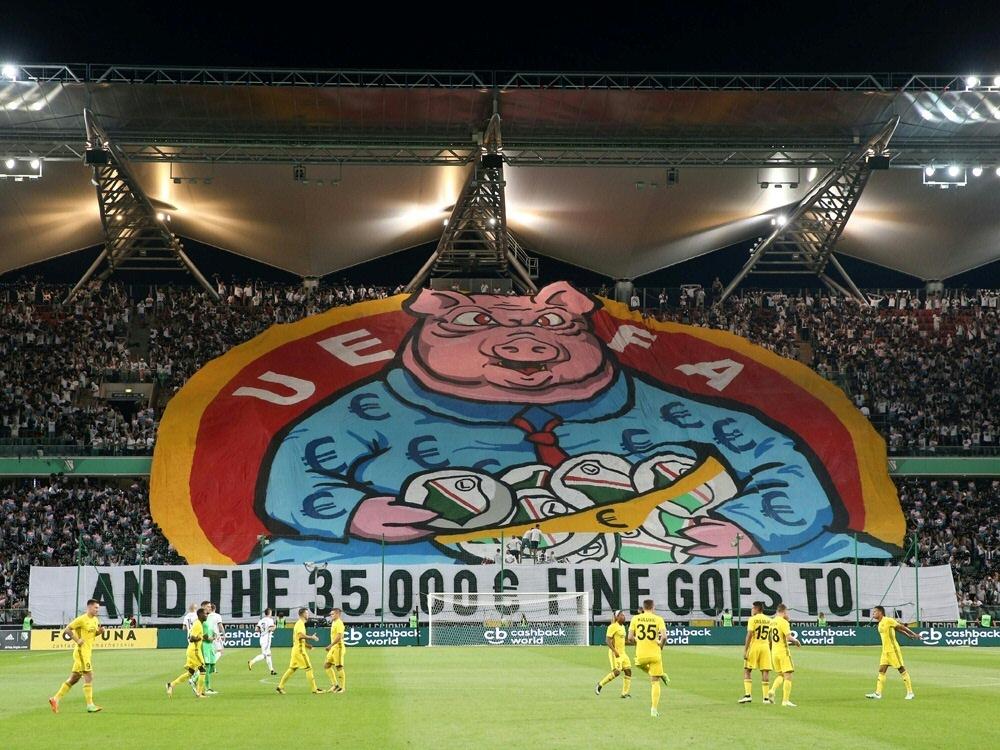 UEFA verurteilt Legia Warschau wegen Choreographie