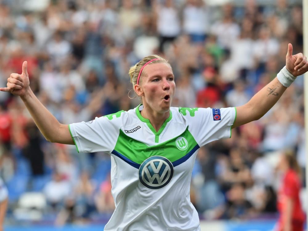 Alexandra Popp reist mit Wolfsburg nach München