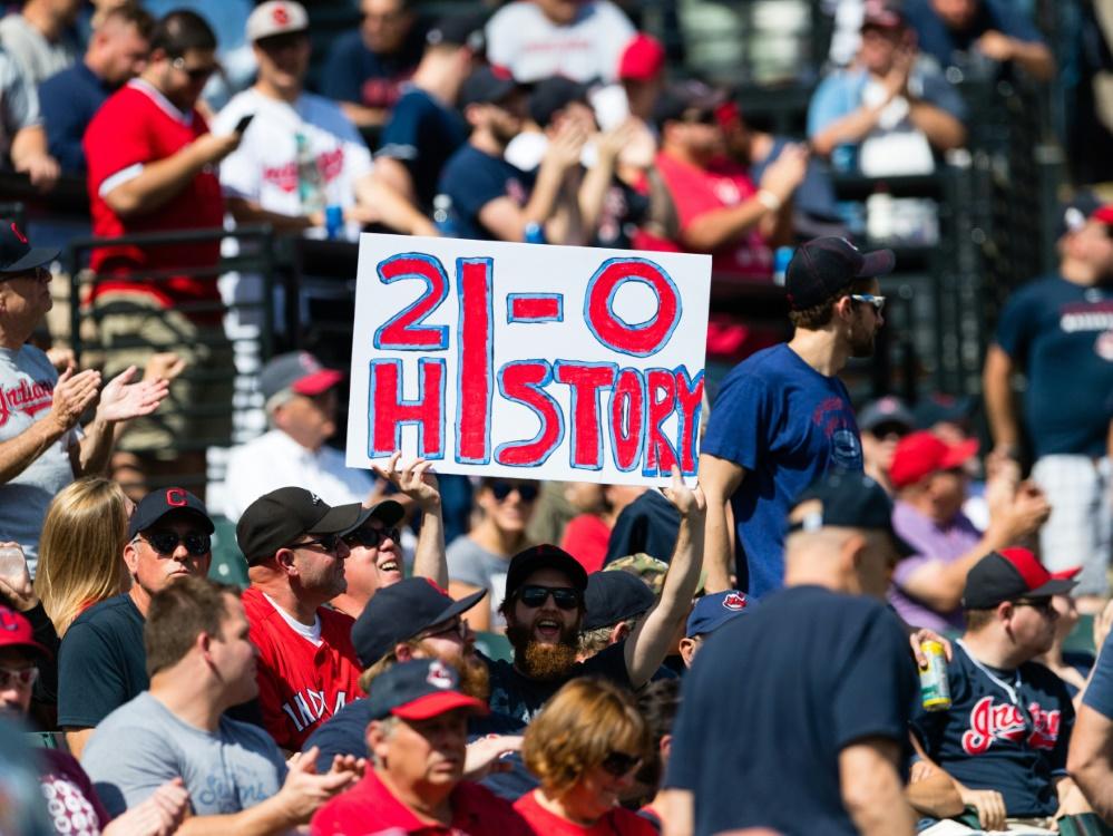 Die Cleveland Indians feiern Rekordserie