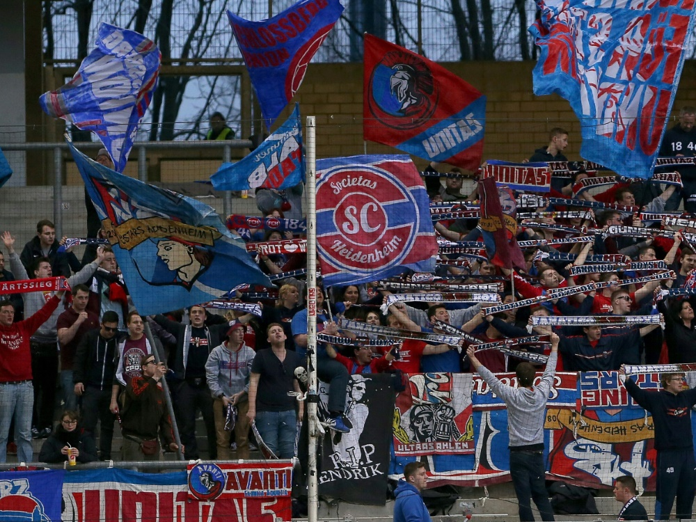 Heidenheim verhängt 13 Stadionverbote