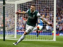 Anthony Stokes bejubelt seinen 1:0-Treffer im Cup-Finale