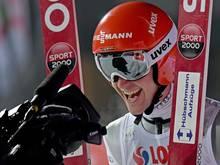 Stephan Leyhe freut sich über seinen zweiten Platz