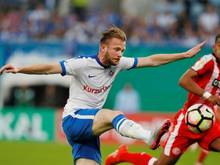 Melvin Platje (l.) steht nicht länger bei Hansa unter Vertrag