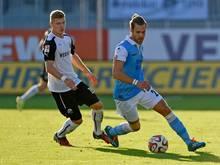 Alexander Bieler (l.) wechselt von Sandhausen nach Kiel
