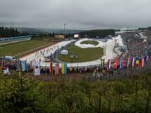 Das Biathlon-Stadion von Oberhof