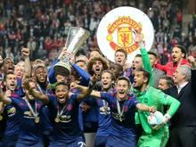 Die Red Devils feierten im Mai 2017 den Gewinn der Europa League