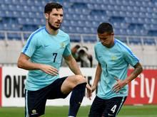 Leckie und Cahill (v.l.) wollen das WM-Ticket lösen