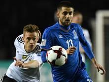 Gegen Weltmeister Deutschland erfolgreich: Dima Nazarov (re.)