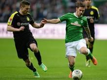 Ludovic Obraniak (r.) konnte sich an der Weser nicht durchsetzen