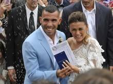 Während der Hochzeit wurde Carlos Tévez Opfer eines Einbruchs