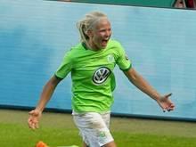 Pernille Harder traf doppelt für die Wölfinnen