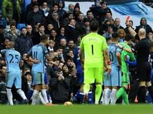 Rudelbildung zwischen Manchester City und Chelsea