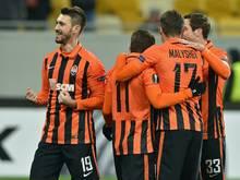 Facundo Ferreyra (l.) schoss Shakhtar zum Supercup-Sieg
