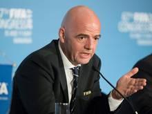 FIFA-Boss Infantino glaubt an eine Beruhigung der Lage in Katar