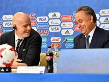 FIFA-Präsident Gianni Infantino und Vitaly Mutko (v.l.)