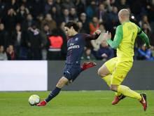 Erzielt zwei Tore für PSG: Stürmer Edinson Cavani (l.)