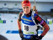 Denise Herrmann entschidet den Spint für sich
