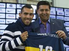 Carlos Tévez (l.) ist zurück bei den Boca Juniors