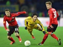 Jonas Meffert (l.) wechselt zum Karlsruher SC