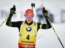 Auftakt in Östersund: Dahlmeier festigt Favoritenrolle