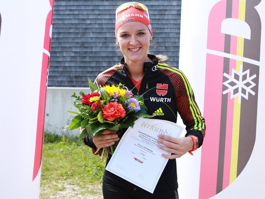 Denise Herrmann hat sich erst vor eineinhalb Jahren auf den Biathlon spezialisiert