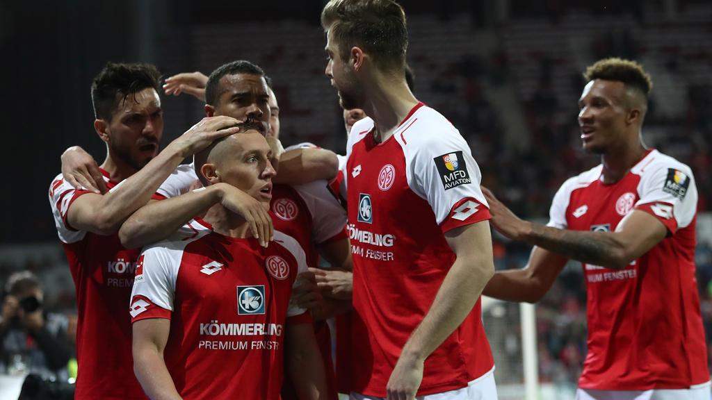 Pablo De Blasis (v.) erzielte beide Treffer für Mainz