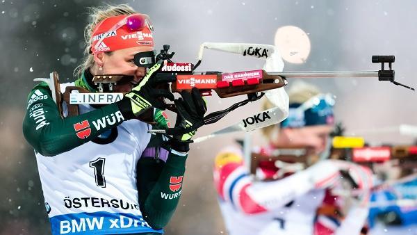 Neben einer herausragenden Laufform passt es bei Denise Herrmann auch beim Schießen immer besser